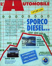 * L'AUTOMOBILE N°474/ SET/1989 * SPORCO DIESEL * SUPER UNO * AUTOMERCATO . . .