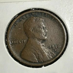 1916-D LINCOLN PENNY BETTER DATE COIN