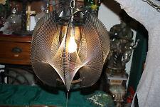 Vintage Mid Century Modern Lucite Chandelier-Swirl Fishing Line Abstract Design