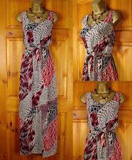 Polyester Plus Size Animal Print V Neck Dresses for Women