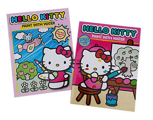 Hello Kitty by Sanrio Paint with Water Book Set: New 2 Book set