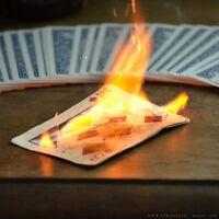 Flash Poker Cards  - fire magic tricks, flash paper supply