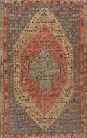 Vintage Geometric Kilim Hand-Woven Area Rug Home Decor Oriental Wool Carpet 6x10