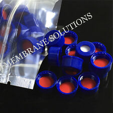 100pcs/pack Red PTFE&White Silicone Septa+Screw Cover For 9-425 2ml Lab Bottle