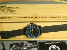 "Men's Watch Infantry Watch Co. IF-011-BL-R ""INFILTRATOR"" BLUE #s, RUBBER BAND"
