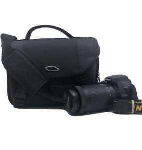 Nikon D3500 DSLR Camera with 18-55mm and 70-300mm Lenses - Black in bag