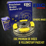 NEW EBC 257mm FRONT BRAKE DISCS AND YELLOWSTUFF PADS KIT OE QUALITY - PD03KF1102