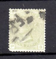GB QV 4d sage green SG153 Plate 16 fine used WS18074