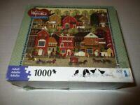 """Hasbro """" Americana """" Puzzle 1000 Pieces Lilac Point Glen Charles Wysocki"""