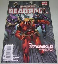 DEADPOOL #8 2ND PRINTING VARIANT (Marvel Comics 2009) vs THUNDERBOLTS (VF-) RARE