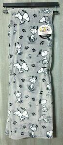 "Berkshire Peanuts Snoopy Throw Blanket 50"" x 70"" Grey Soft & Warm NEW"
