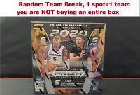 2020/21 Panini Prizm Collegiate Draft Picks NBA One Hobby Box Random Break #7