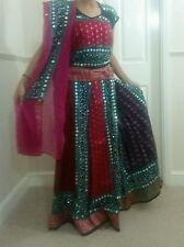 chaniya choli navratri traditional indian bollywood blouse one size saree pink