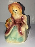 Vintage Modern Era SHAWNEE POTTERY  Planter, Colonial Lady, USA #616