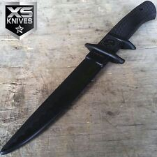 "11.5"" Black Classic Rubber Training Practice Fake Knife"