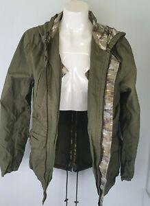 River Island Green Khaki Jacket Sz M