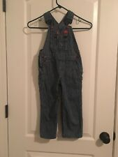 Dickies Toddler Kids Bib Denim Pants Overalls Sz 4T Striped Clothes