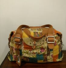 FOSSIL Canvas Patchwork Print Weekender Overnight Duffle Bag