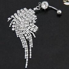 EG_ Women Tassel Navel Dangle Button Belly Ring Bar Body Piercing Jewelry Market