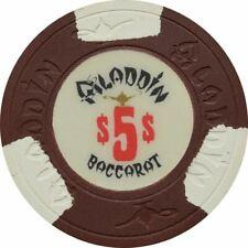 Aladdin Casino Las Vegas NV $5 Baccarat Chip 1980s