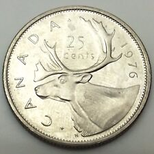1976 Canada 25 Twenty Five Cents Stock Photo Fresh From Roll C720