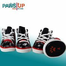 Paws UP Set of 4 Dog shoes Red Paws Protector with design size 4