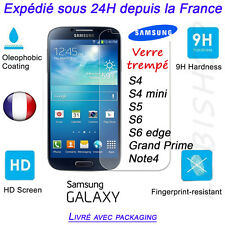 Film de Protection Verre Trempé Tempered Glass Samsung Galaxy S6 S5 S4 NOTE etc
