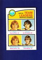Buffalo Sabres TL HOF 1976-77 O-PEE-CHEE OPC Hockey #380 (EXMT) Gil Perreault