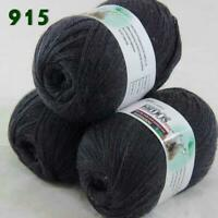 Sale Lot of 3 Skeins x50g LACE Soft Acrylic Wool Cashmere hand knitting Yarn 915