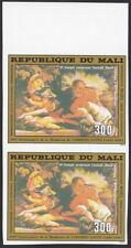 Mali ScC409 Painting, Holy Family by Lorenzo Lotto, Christmas, Imperf Pair