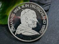 Silber Medaille Johannes Paul II. In Deutschland 1980 Fulda Köln Mainz München