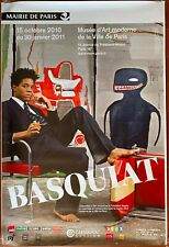 Affiche Exposition JEAN-MICHEL BASQUIAT Musée d'Art Moderne de Paris 120x175cm