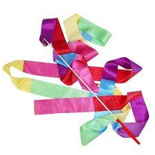 4m Gym Dance Ribbon Rhythmic Art Gymnastic Streamer Twirling Rod B4M7