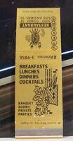 Rare Vintage Matchbook Cover K2 Los Angeles California Stevens Restaurant Banque