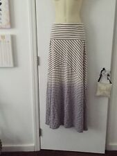 NWT Calvin Klein Grey White Ombré Dyed Jersey Maxi Skirt Soft Stretchy Small S