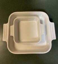 Le Creuset Square Casserole Baking Dish White 2 Piece Set