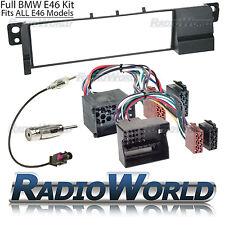 BMW 3 Series E46 Radio Fascia Panel Adapter Surround Plate FULL Fitting KIT