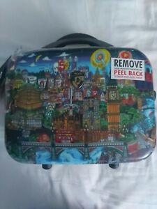Heys Fazzino Hard Side Vanity Case Luggage CarryOn Makeup Case London City Scape