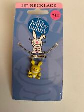 "Jim Benton Happy Bunny Charm Pendant Necklace ""Thumbs Up""  Yellow"