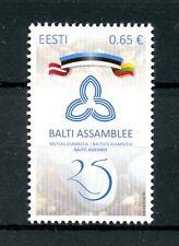 Estonia 2016 Gomma integra, non linguellato Baltico ASSEMBLY 25th ANNIV 1v Set Bandiere FRANCOBOLLI