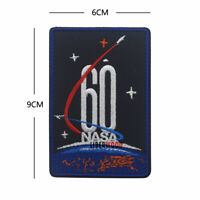 Embroidered NASA 60th Anniversary USA Space Apollo Mission Hook Loop Patch Badge