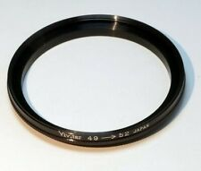 Vivitar 49mm to 52mm Step-up ring Metal adapter double threaded for lens filter