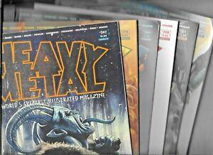 Heavy Metal Magazine 2020 Full Year #297 298 299 300 301 302 VF+ 1977 Series