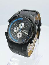 Diesel DZ4129 NOS men's chrono black and blue watch DZ-4129 analog 5 ATM