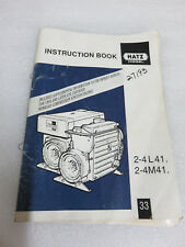 1998 Hatz Diesel 2-4L41 2-4M41 Instruction Book Manual OEM Factory