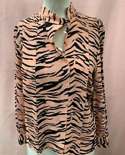 Ladies Pink and Black Blouse Top Shirt Sizes 4, 6, 8, 10, 12, 14 and 16 NEW