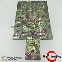 10 Carte Dragon Ball Super / Broly Légendaire Multi Forms / Japan Carddass Card