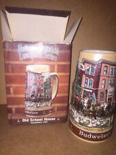 New Box 1988 Budweiser Beer Stein Old School Historical Landmark Series Ceramic