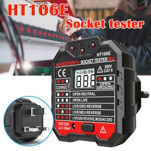 HABOTEST HT106E Digital Socket Tester Phase Check Detector Voltage Tester