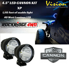 Vision X 4.5″ Light Cannon XP 40 Watt LED *PAIR* 10 Degree Spot Beam w/ Harness